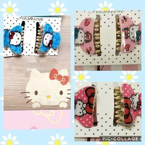 Photo 3 pairs Hello Kitty Fashion Hair Clips