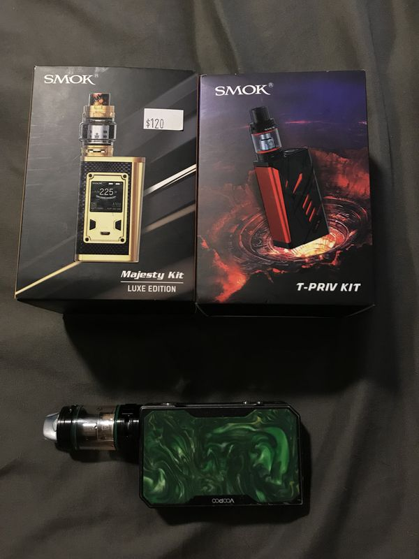 *read description for prices* Tpriv kit, majesty luxe kit, voopoo drag, for  Sale in Washington, PA - OfferUp