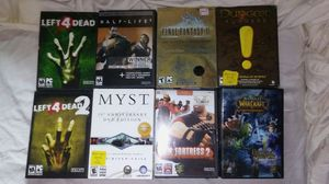 10 Quality PC Video games,&acouple Warcraft games not in pic for Sale in Boston, MA