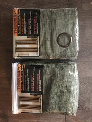 New velvet / Thermatec / blackout curtains x 2 for Sale in Rockville, MD
