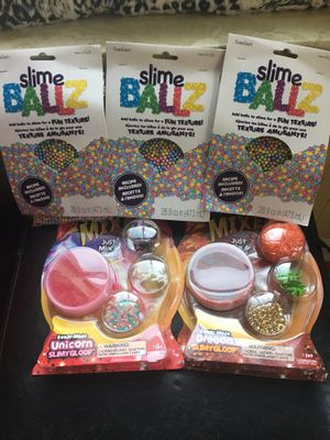 Lot of slime supplies for Sale in Columbus, OH