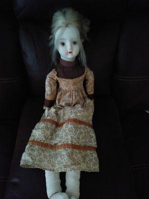 Lovely porcelain head n hands antique looking doll for Sale in Gadsden, AL