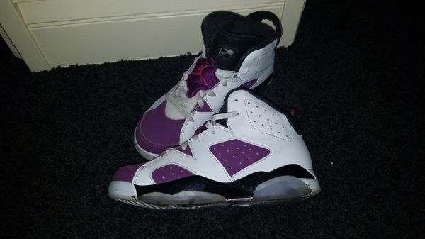 new arrival 2c2ed 10647 ... closeout air jordan retro 6 preschool lifestyle shoe white vivid pink  bright grape black size 1