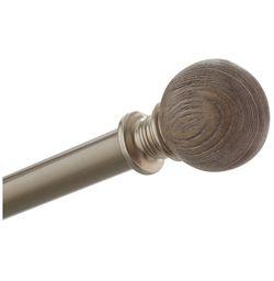 Grey Oak Curtain Rod Set Thumbnail