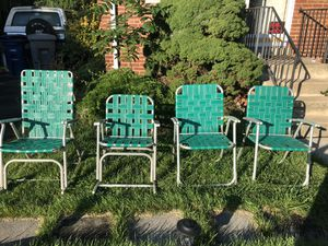 Vintage patio chairs - set of 4 for Sale in Annandale, VA