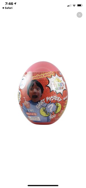 Ryan Giant Egg 1 Yellow 1 Red. Not trying to make extra money found 3 and only needed one. for Sale in San Diego, CA