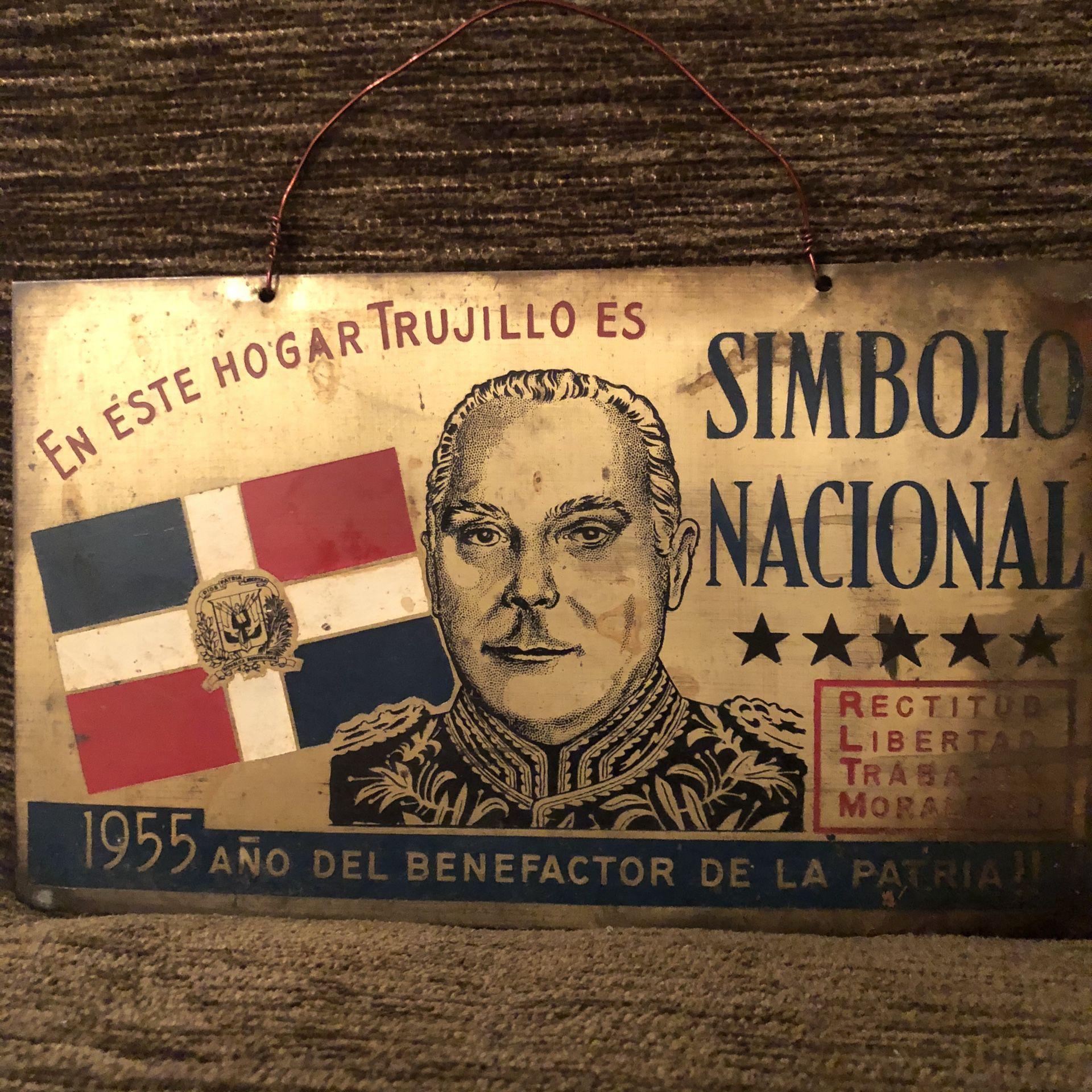 1955 Plaque from the Dominican Republic during Rafael Leonidas Trujillo rule
