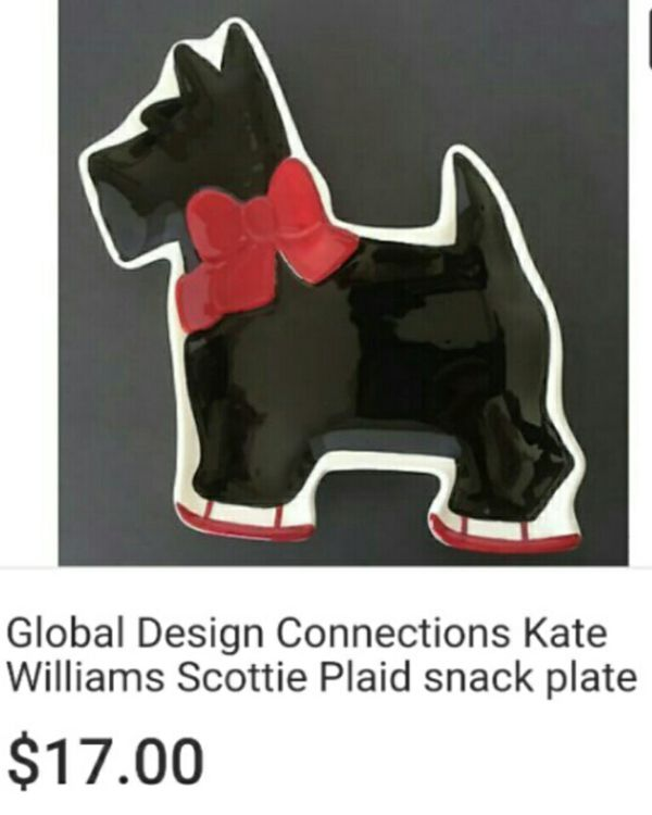 Global Design Connections Kate Williams Plaid Snack Plate For Sale