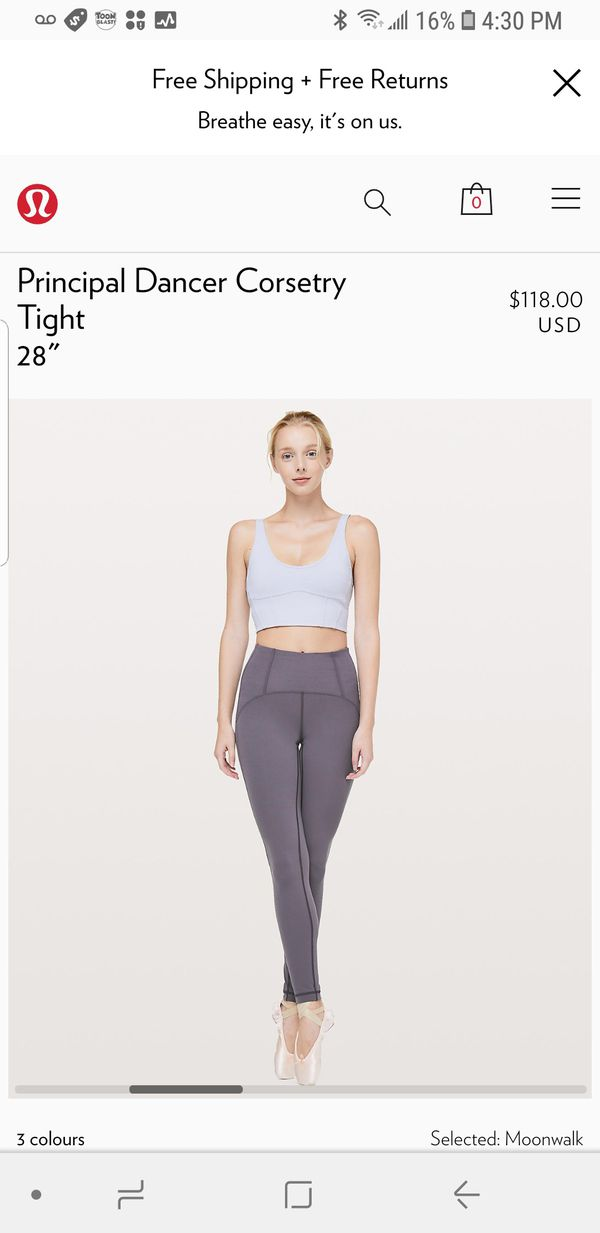 785c3632198833 Lululemon principal dancer tights size 4 or 6 for Sale in Burien, WA ...