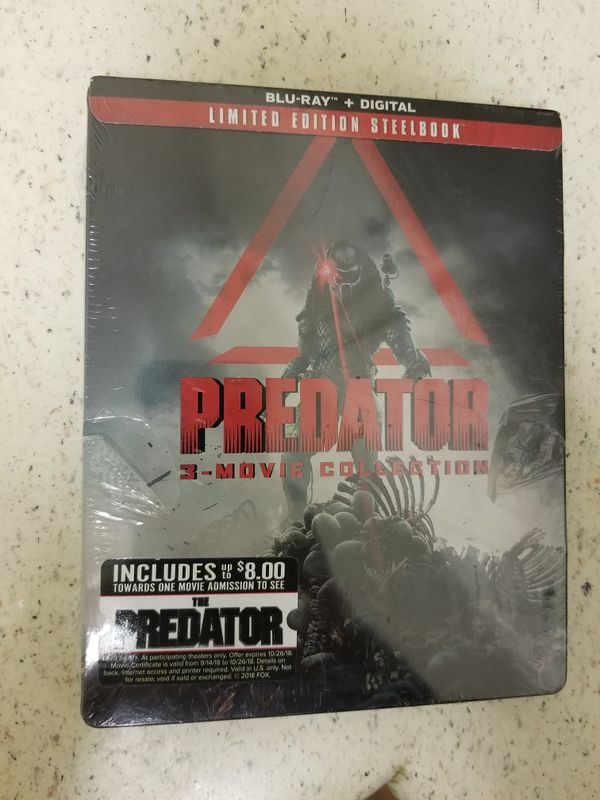 PREDATOR LIMITED EDITION STEELBOOK BLU-RAY NEW SEALED for Sale in Chula  Vista, CA - OfferUp