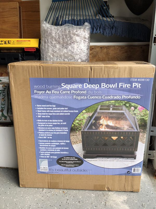 Global Outdoors Square Deep Bowl Fire Pit Set For Sale In Boynton Beach Fl Offerup