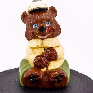 Photo Teddy Bear Cookie Jar Vintage 1970's