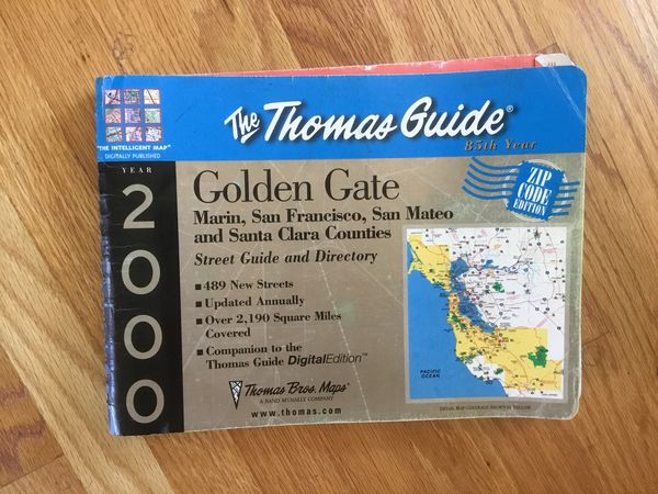 The THOMAS GUIDE map FREE for Sale in San Jose, CA - OfferUp on