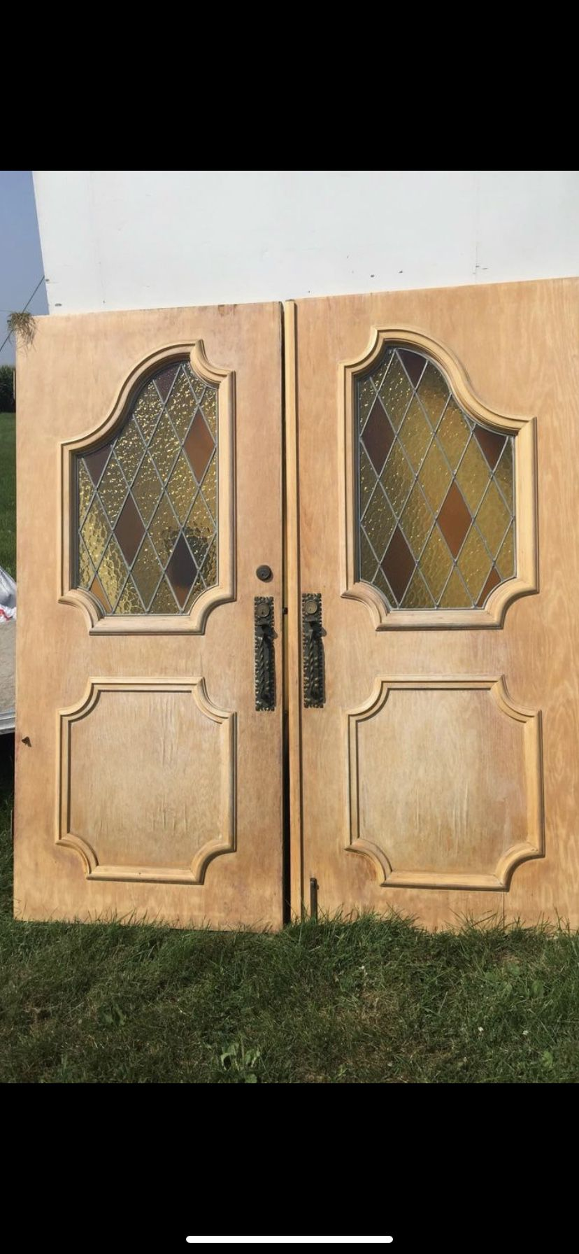 Very Cool Old Antique Door With Stained Glass