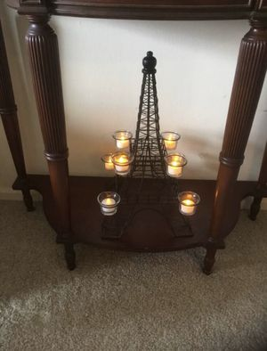 "Eiffel Tower tealight holder. Black. 8 cups. Over 18"" high. for Sale in Alexandria, VA"