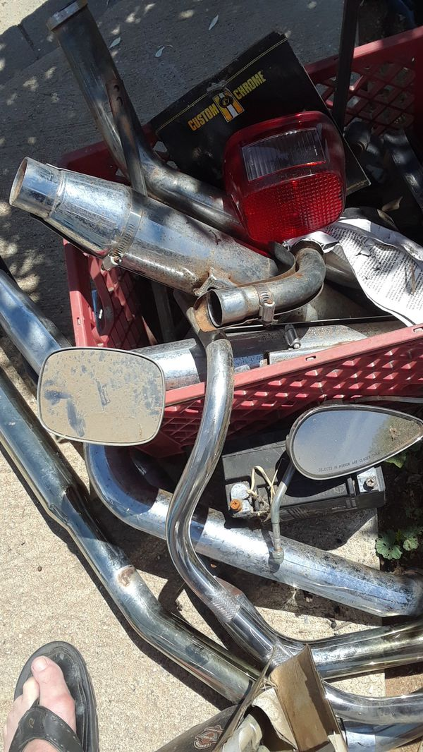 Harley parts  97 Dyna Low Rider exhaust mirrors sheeps horns pipes for Sale  in Norco, CA - OfferUp