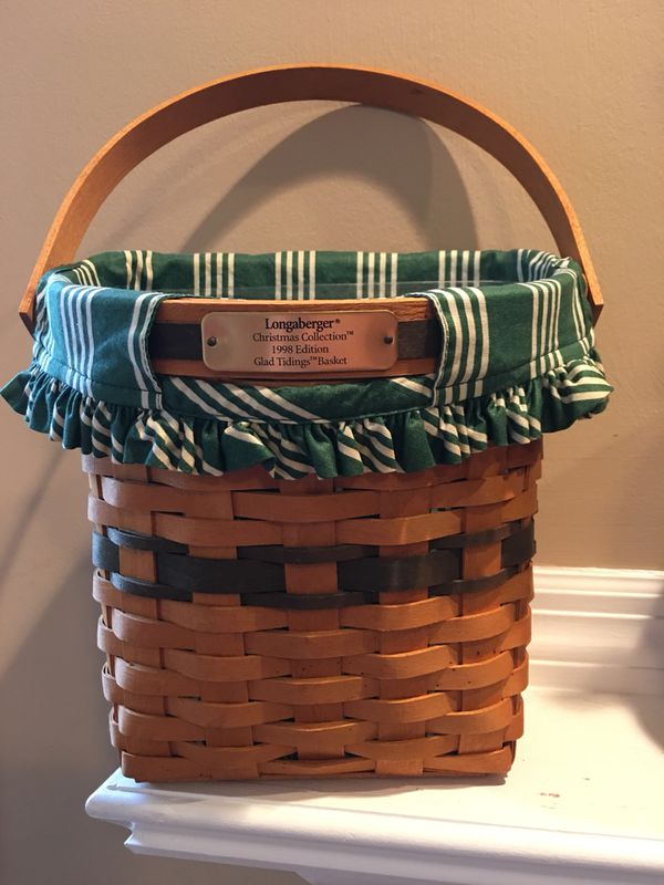 Longaberger Christmas Basket.Longaberger Christmas Collection 1998 Edition Glad Tidings Basket For Sale In Lenoir City Tn Offerup
