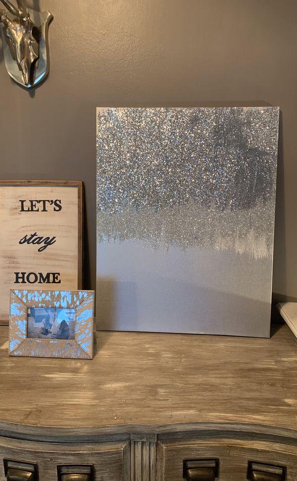 Abstract Glitter Wall Art