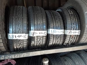 Photo Semi new tires set 185 55 16