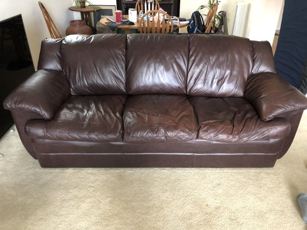 Leather Couch Set From Sansaco Furniture In Kent Wa Offerup