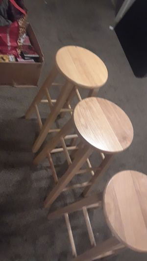 Three Brown stools slightly used for Sale in West Valley City, UT