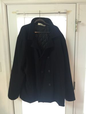 Men's Black Wool Double Breasted Pea Coat 5X for Sale in Richmond, VA