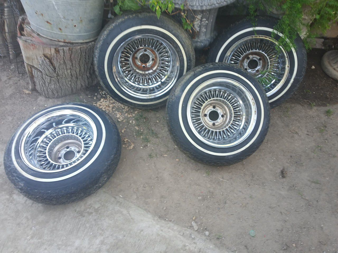 Set of Dayton spoke and tires good condition