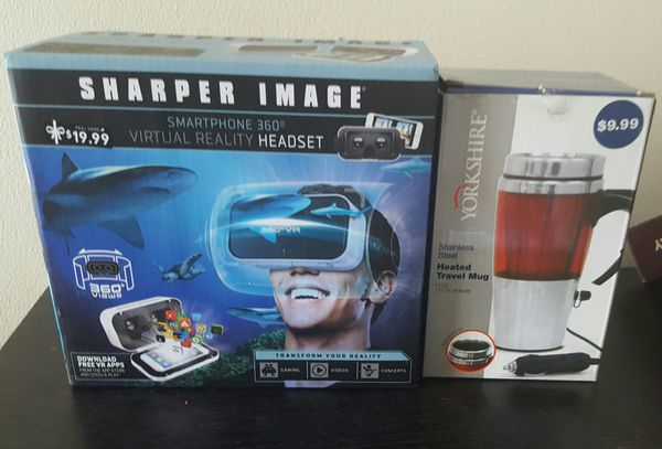Sharper Image Smart Phone Virtual Reality Headset And Heat Travel