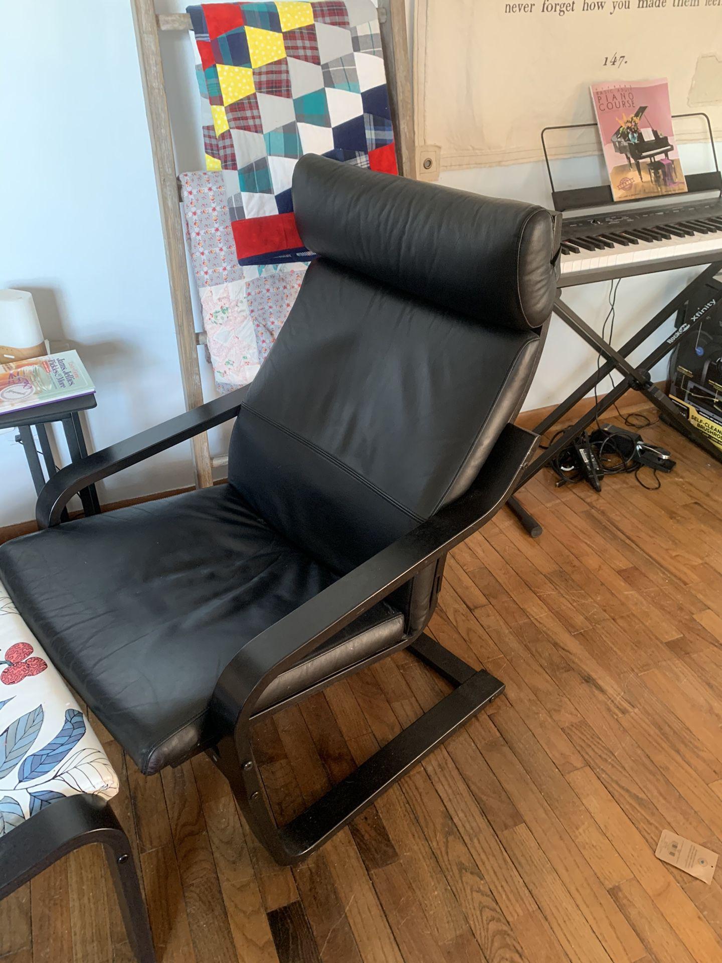 Poang Chair & Ottoman Ikea