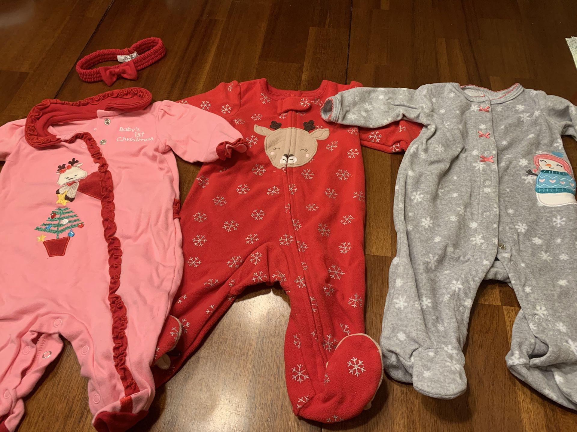 Baby girl Christmas jammies