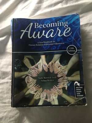 Becoming Aware Human Relations and Personal Adjustment for Sale in Portland, OR
