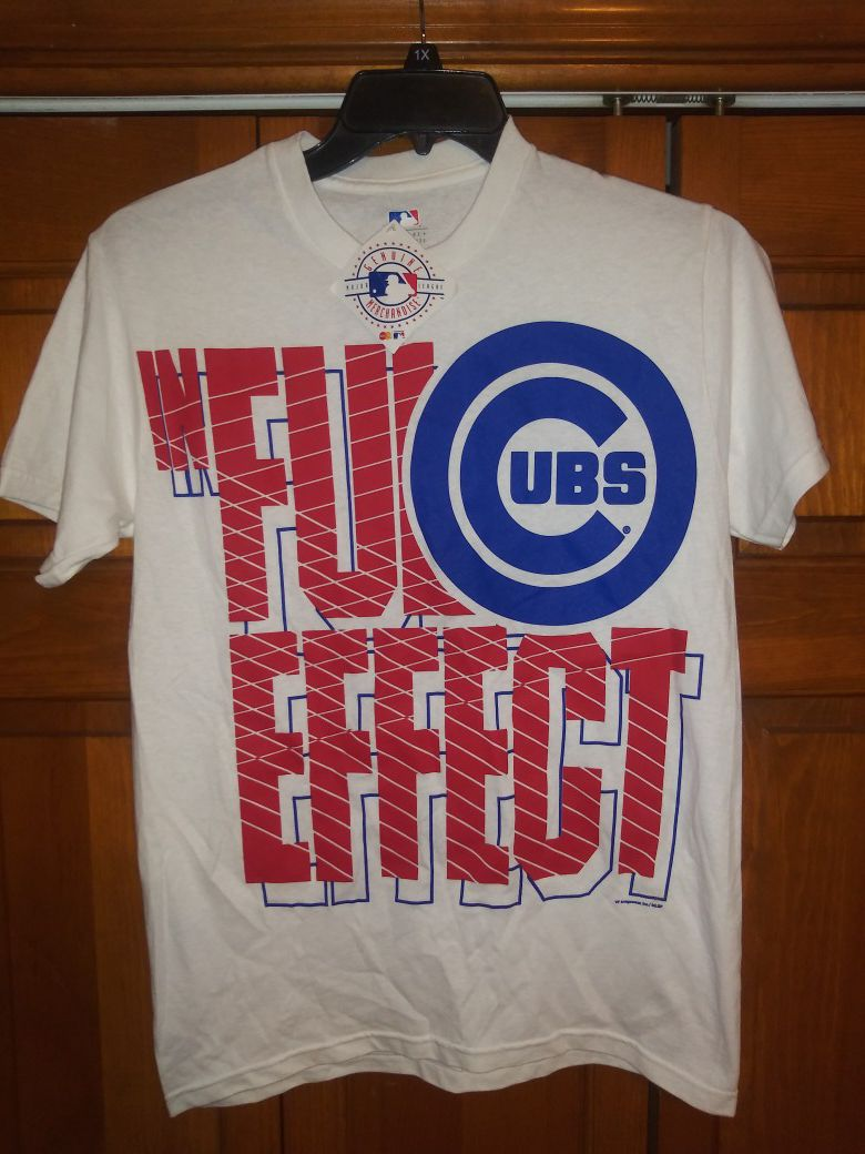 MENS SMALL CHICAGO CUBS IN FULL EFFECT SHIRT FROM MAJOR LEAGUE GENUINE MERCHANDISE NEW WITH TAGS