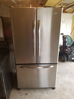 French door refrigerator stainless steel for Sale in Lake Ridge, VA