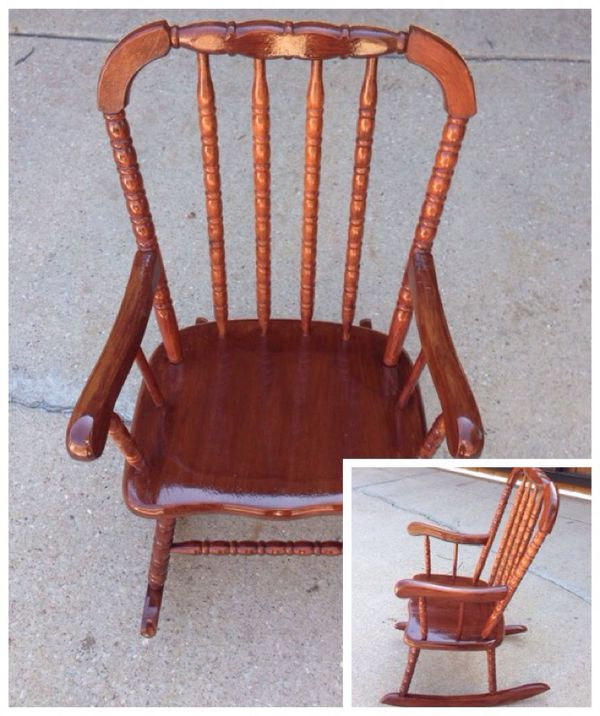 Excellent Vintage Rocking Chair Jenny Lind Cherry Finish Wooden Unemploymentrelief Wooden Chair Designs For Living Room Unemploymentrelieforg