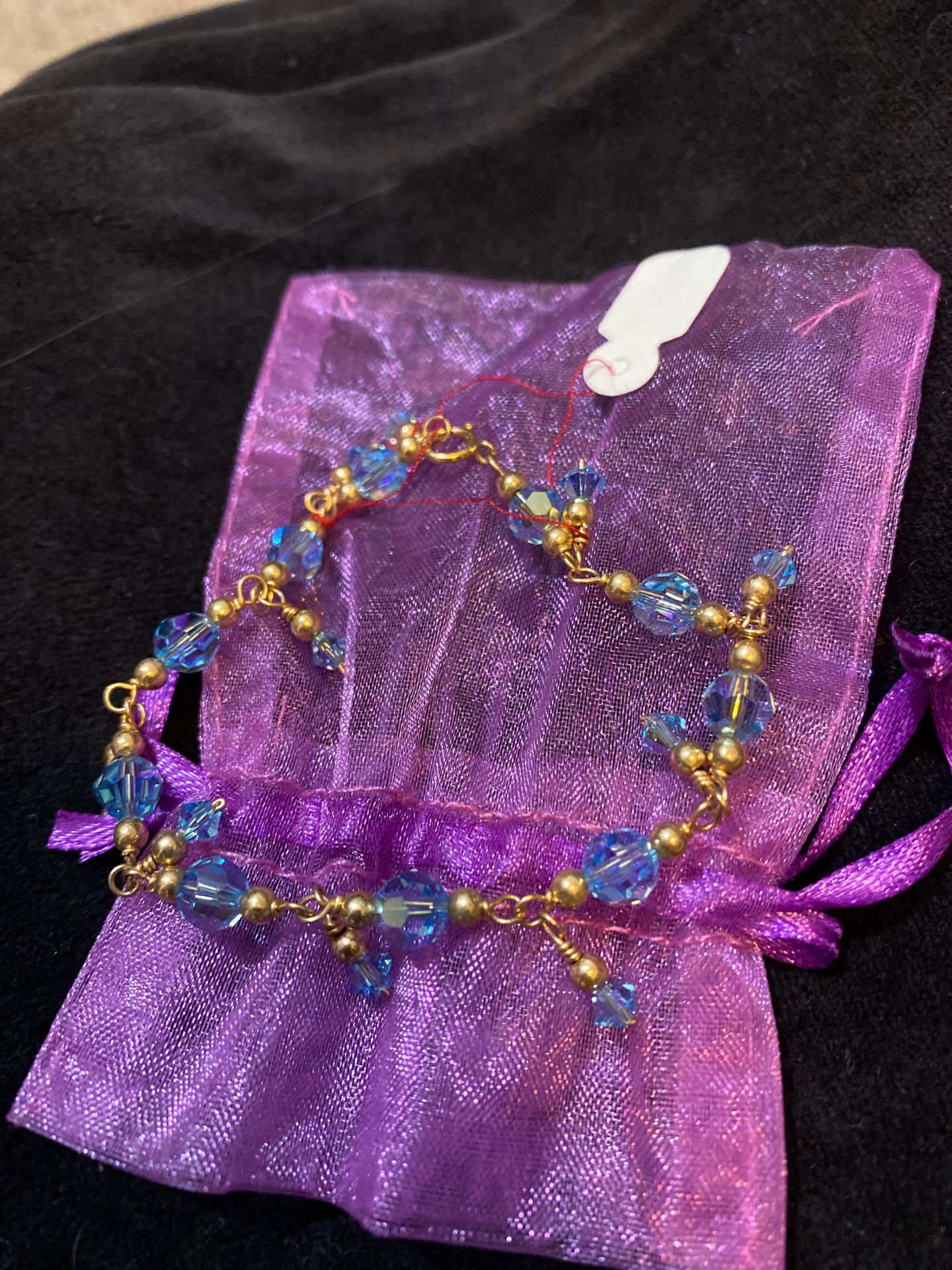 Baby blue Swarovski bracelet