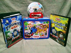 Thomas the train 3 DVDs lunch box for Sale in Oklahoma City, OK