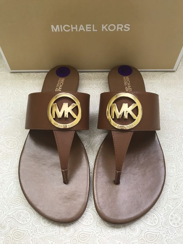 28bd09f4dc8863 🛍NEW Michael Kors Racquel Thong Sandal in Luggage. Never Worn With  Box✳️Size Women s US 8.5 (Clothing   Shoes) in San Marcos