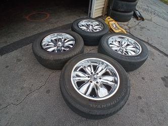 4 wheels end tires Chevrolet Silverado suburban Nissan Taitan 6 lug rin 20 Thumbnail