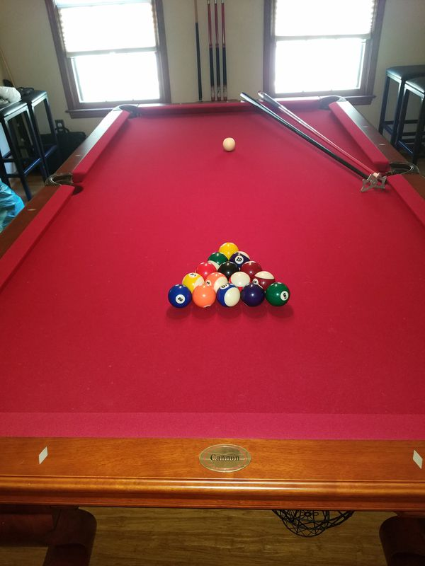 Ft Cannon Slate Pool Table With A Lot Of Accessories For Sale In - Cannon pool table