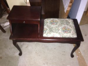 Antique telephone bench for Sale in Litchfield, OH
