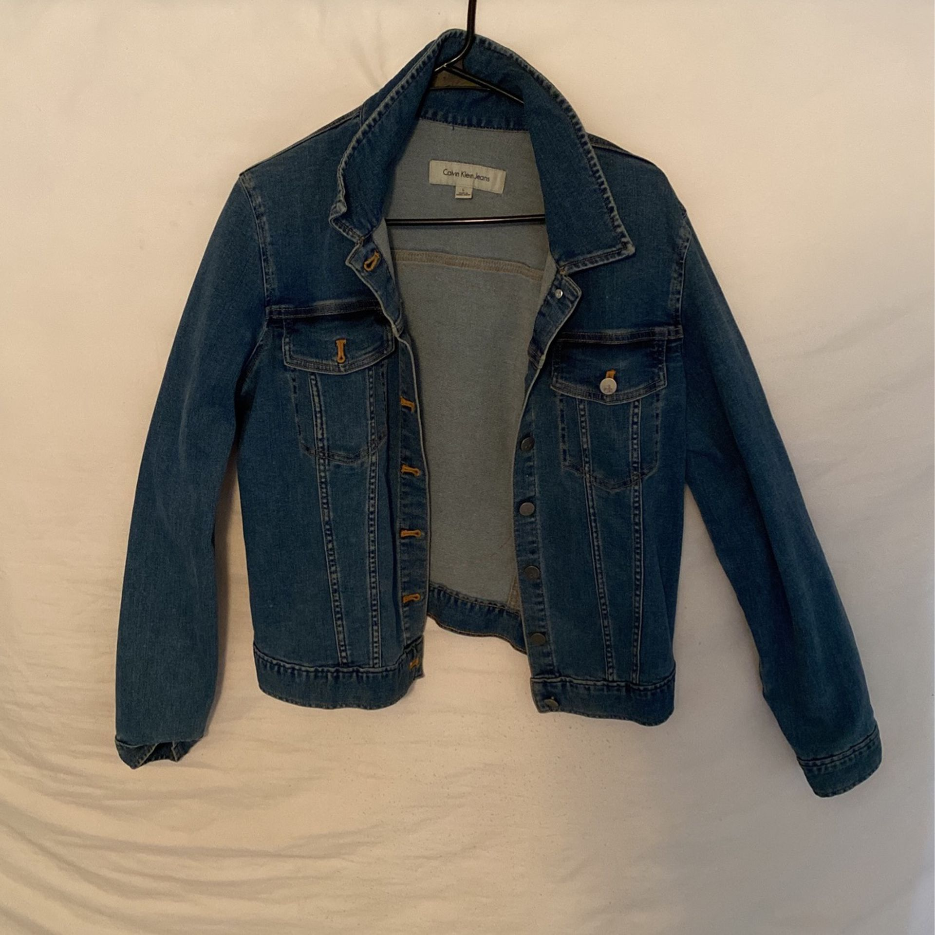 Jean Jacket With Red Tongue
