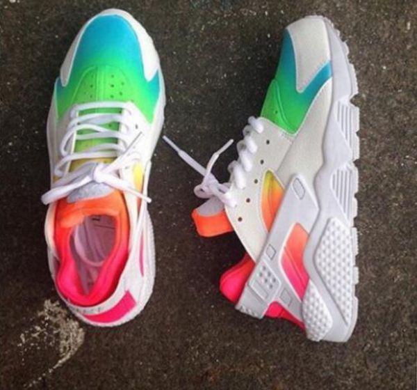 2c2fd39394df Customized Rainbow Nike Huaraches for Sale in Garner