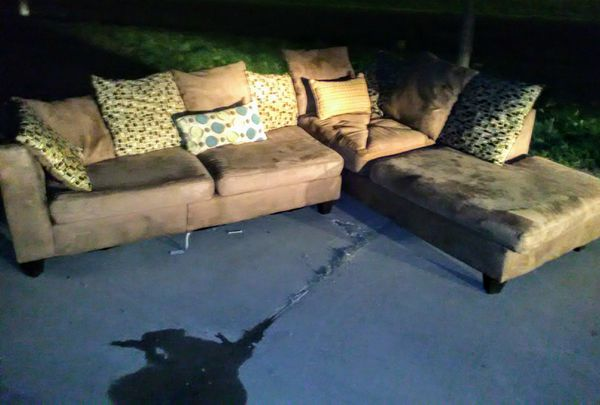 Nice Ashley Furniture Microfiber Chaise Lounge Sectional Couch For