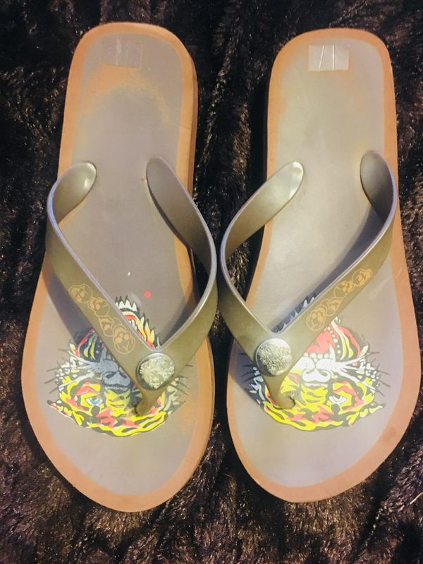 a150fb411e3f Ed Hardy Men flip flops size 10-10.5 (Clothing   Shoes) in Alexandria