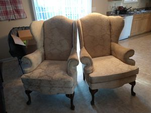 White wingback chairs for Sale in Raleigh, NC