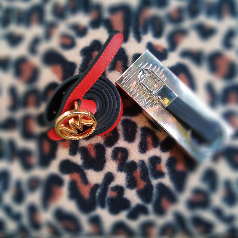 Women Mk belt and Rivera key ring.