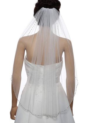 """1T Rhinestone Pearl Sequin Beaded Wedding Veil Elbow Length 30"""" for Sale in Westminster, CA"""