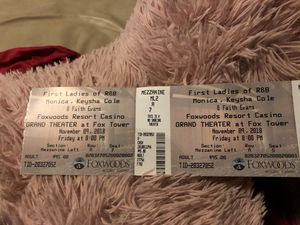 2 tickets tonight show to Keisha Cole, Monica, Faith evens at foxwoods for Sale in Boston, MA