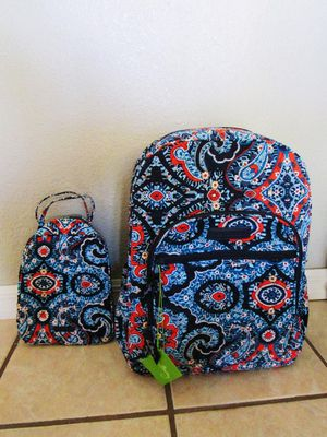 Large Campus Vera Bradley Backpack With Matching Lunchbox For Sale In Deltona FL