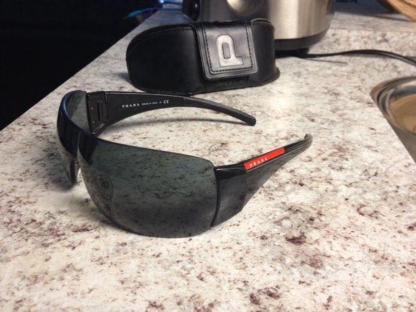 be1786920992d ... sale rare new authentic prada sport black shield sunglasses sps 02l ps  e8f6f c5875